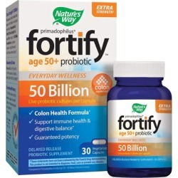 Primadophilus Fortify 50 Plus Probiotic 30 Veg Caps by Nature's Way