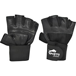 Mens Weight Lifting Gloves with Wrist Wraps Medium 1 Each by Spinto USA LLC