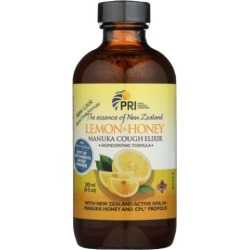Lemon Honey Manuka Cough Elixir 8 Oz by Pacific Resources