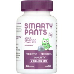 Adult Probiotic Blueberry 60 Count by SmartyPants Gummy Vitamins