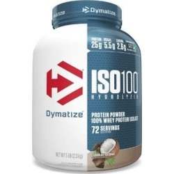 Iso 100 Hydrolyzed Whey Protein Isolate Chocolate Coconut 5 lbs by Dymatize