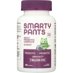 Probiotic Adult Complete Blueberry 40 Count by SmartyPants Gummy Vitamins
