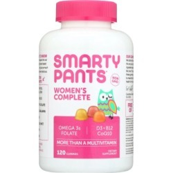 Gummy Vitamins Womens Complete Vitamins 120 Count by SmartyPants Gummy Vitamins