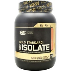 Gold Standard 100% Isolate Strawberry Cream 1.6 lbs by Optimum Nutrition
