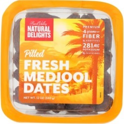 Pitted Medjool Dates 12 Oz by Natural Delights