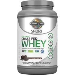 Sport Certified Grass Fed Whey Protein Chocolate 23.7 Oz by Garden of Life