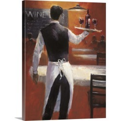 Large Solid-Faced Canvas Print Wall Art Print 30 x 40 entitled Wine Bar