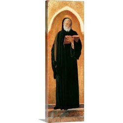 Large Solid-Faced Canvas Print Wall Art Print 12 x 36 entitled Saint Benedict