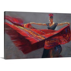 Large Solid-Faced Canvas Print Wall Art Print 30 x 20 entitled Blanket Dance