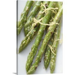 Large Gallery-Wrapped Canvas Wall Art Print 16 x 24 entitled Roasted green asparagus with lemon zest found on Bargain Bro India from Great Big Canvas - Dynamic for $214.99