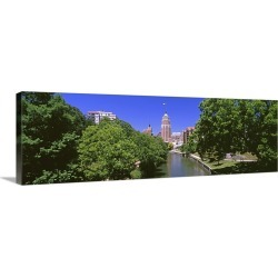 Large Gallery-Wrapped Canvas Wall Art Print 30 x 10 entitled Tower Life Building, San Antonio River Walk, San Antonio Rive... found on Bargain Bro India from Great Big Canvas - Dynamic for $209.99