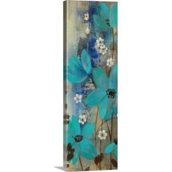 Large Solid-Faced Canvas Print Wall Art Print 16 x 48 entitled Floral Symphony Crop I