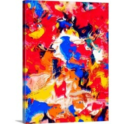 Large Solid-Faced Canvas Print Wall Art Print 30 x 40 entitled Brightly Colored Abstract found on Bargain Bro India from Great Big Canvas - Dynamic for $274.99