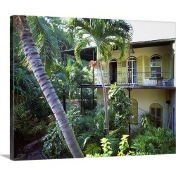 Large Gallery-Wrapped Canvas Wall Art Print 20 x 16 entitled Florida, Florida Keys, Key West, Ernest Hemingway's house