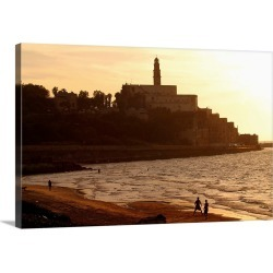 Large Solid-Faced Canvas Print Wall Art Print 30 x 20 entitled Middle East, Israel, Tel Aviv, View towards the city found on Bargain Bro India from Great Big Canvas - Dynamic for $169.99