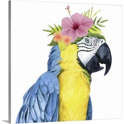 Large Solid-Faced Canvas Print Wall Art Print 20 x 20 entitled Tropical Halo II