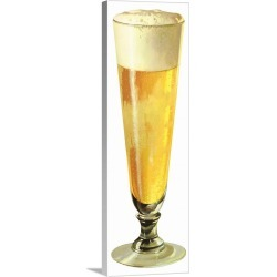 Large Solid-Faced Canvas Print Wall Art Print 12 x 36 entitled Beer in Pilsner Glass