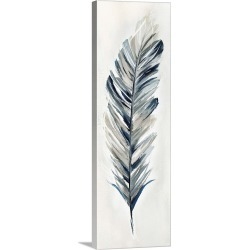 Large Solid-Faced Canvas Print Wall Art Print 12 x 36 entitled Soft Feathers I