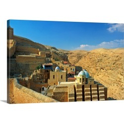 Large Solid-Faced Canvas Print Wall Art Print 30 x 20 entitled Middle East, Israel, Bethlehem, Mar Saba monastery built in... found on Bargain Bro India from Great Big Canvas - Dynamic for $169.99