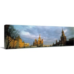 Large Solid-Faced Canvas Print Wall Art Print 48 x 16 entitled Red Square Moscow Russia