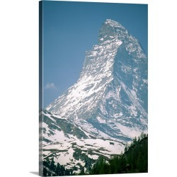 Large Gallery-Wrapped Canvas Wall Art Print 16 x 24 entitled A view of the majestic Matterhorn in the Swiss Alps found on Bargain Bro India from Great Big Canvas - Dynamic for $224.99