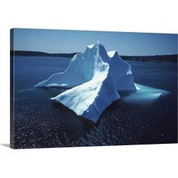 Large Gallery-Wrapped Canvas Wall Art Print 30 x 20 entitled Iceberg , Terre-neuve , Newfoundland  , Canada , North America