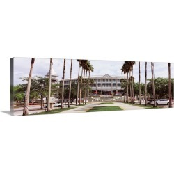 Large Gallery-Wrapped Canvas Wall Art Print 36 x 12 entitled Spring training home of Minnesota Twins, Hammond Stadium, For...