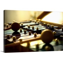 Large Gallery-Wrapped Canvas Wall Art Print 24 x 16 entitled Carillon musical instrument