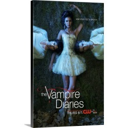 Large Gallery-Wrapped Canvas Wall Art Print 15 x 24 entitled The Vampire Diaries - TV Poster found on Bargain Bro India from Great Big Canvas - Dynamic for $199.99