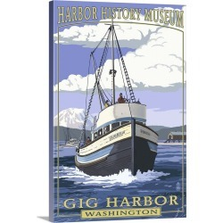 Large Gallery-Wrapped Canvas Wall Art Print 16 x 24 entitled Shenandoah - Harbor History Museum - Gig Harbor, Washington: ... found on Bargain Bro India from Great Big Canvas - Dynamic for $214.99