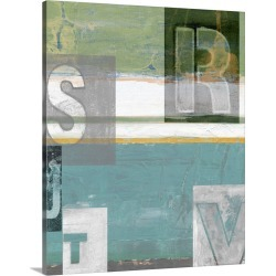 Large Gallery-Wrapped Canvas Wall Art Print 16 x 20 entitled Letter Play II found on Bargain Bro India from Great Big Canvas - Dynamic for $179.99