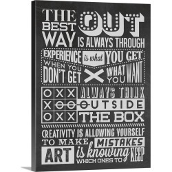 Large Solid-Faced Canvas Print Wall Art Print 30 x 40 entitled Creativity Set Black