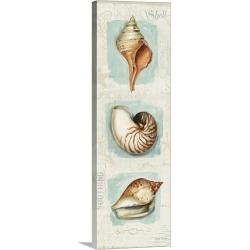 Large Solid-Faced Canvas Print Wall Art Print 16 x 48 entitled Coastal Jewels Panel II