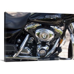 Large Gallery-Wrapped Canvas Wall Art Print 24 x 16 entitled Harley Davidson motorcycle, Key West, Florida