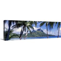 Large Solid-Faced Canvas Print Wall Art Print 48 x 16 entitled Bora Bora Tahiti Polynesia