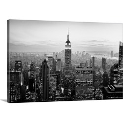 Large Gallery-Wrapped Canvas Wall Art Print 30 x 20 entitled View of New York city.