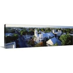 Large Gallery-Wrapped Canvas Wall Art Print 30 x 10 entitled Florida, Key West, Duval Street