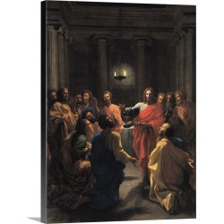Large Solid-Faced Canvas Print Wall Art Print 30 x 40 entitled Christ Instituting the Eucharist, or The Last Supper, 1640
