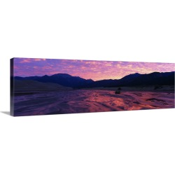 Large Gallery-Wrapped Canvas Wall Art Print 36 x 13 entitled Sunrise Great Sand Dunes National Monument CO found on Bargain Bro India from Great Big Canvas - Dynamic for $214.99