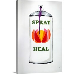 Large Solid-Faced Canvas Print Wall Art Print 20 x 30 entitled Spray Heal