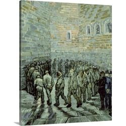 Large Solid-Faced Canvas Print Wall Art Print 24 x 30 entitled The Exercise Yard, or The Convict Prison, 1890
