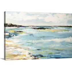 Large Solid-Faced Canvas Print Wall Art Print 30 x 20 entitled Beach Surf III