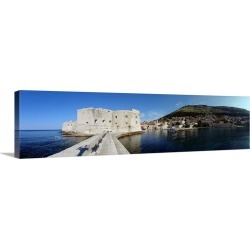 Large Gallery-Wrapped Canvas Wall Art Print 48 x 13 entitled Ruins of a building, Fort St. Jean, Adriatic Sea, Dubrovnik, ... found on Bargain Bro India from Great Big Canvas - Dynamic for $244.99