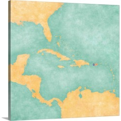 Large Solid-Faced Canvas Print Wall Art Print 20 x 20 entitled Puerto Rico - Carribbean