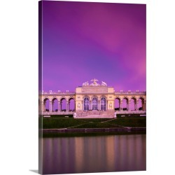 Large Solid-Faced Canvas Print Wall Art Print 20 x 30 entitled Austria, Vienna, The Gloriette in the gardens of Schonbrunn...