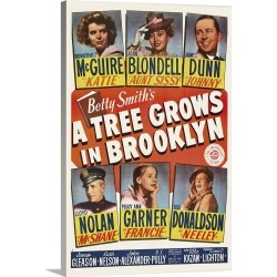 Large Solid-Faced Canvas Print Wall Art Print 20 x 30 entitled A Tree Grows in Brooklyn - Vintage Movie Poster