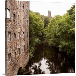 Large Gallery-Wrapped Canvas Wall Art Print 16 x 16 entitled Dean Village on the Water of Leith, Edinburgh, Scotland - Square