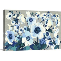 Large Gallery-Wrapped Canvas Wall Art Print 24 x 15 entitled Anemones Japonaises I found on Bargain Bro India from Great Big Canvas - Dynamic for $159.99