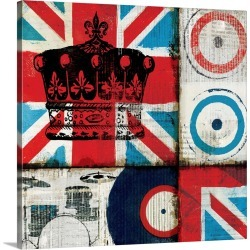 Large Solid-Faced Canvas Print Wall Art Print 20 x 20 entitled British Rock II