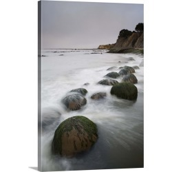 Large Gallery-Wrapped Canvas Wall Art Print 16 x 24 entitled Boulders, known as Bowling Balls, in the surf, Bowling Ball B... found on Bargain Bro India from Great Big Canvas - Dynamic for $224.99